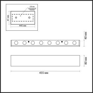 Схема Настенный светильник - 3893/16WL  в стиле Модерн