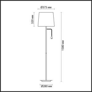 Торшер с подсветкой — 4114/1F — ODEON LIGHT 1*60W, 3W