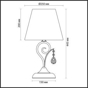 Схема Настольная лампа - 3924/1T  в стиле Элегант