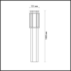 Схема Уличный светильник 100 см - 4048/1F  в стиле Уличный