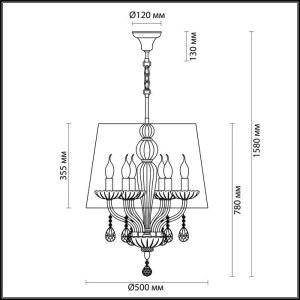 Схема Люстра - 4195/6  в стиле Классика