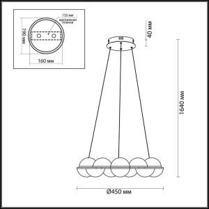Схема Люстра - 4105/64L  в стиле Модерн