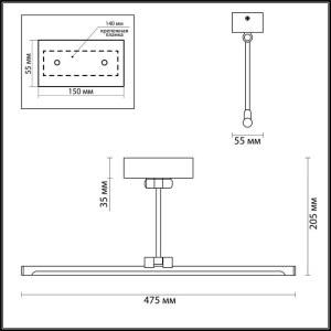 Подсветка для картин с выключателем — 4616/10WL — ODEON LIGHT 10W