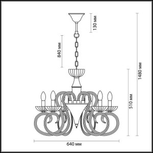 Схема Люстра - 3932/6  в стиле Классика