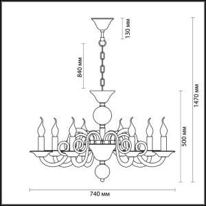 Схема Люстра - 3931/8  в стиле Классика