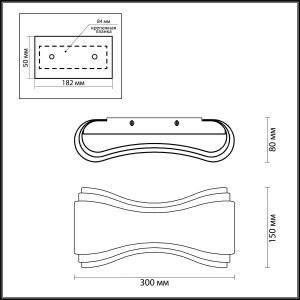 Схема Настенный светильник - 3894/8WG  в стиле Модерн
