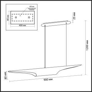 Схема Подвесной светильник - 3816/50BG  в стиле Арт деко