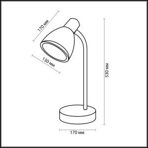 Схема Настольная лампа - 2411/1T  в стиле Для кабинета и офиса
