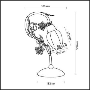 Схема Настольная лампа - 2252/1T  в стиле Флористика