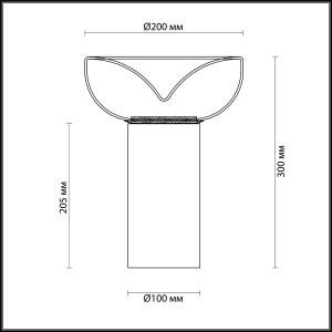 Схема Настольная лампа - 4720/7TL  в стиле Модерн