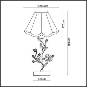 Схема Настольная лампа - 2585/1T  в стиле Флористика