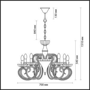 Схема Люстра - 3932/8  в стиле Классика