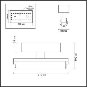 Настенный светильник IP44 — 4618/4WL — ODEON LIGHT 4W