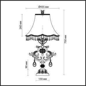 Схема Настольная лампа - 2802/1T  в стиле Классика