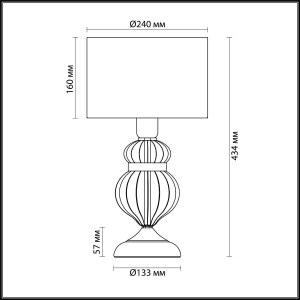 Схема Настольная лампа - 4687/1T  в стиле Классика