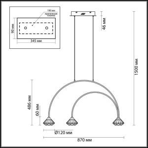 Схема Подвес - 4100/3  в стиле Модерн