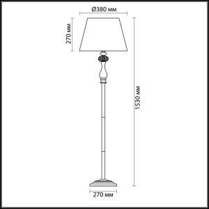 Схема Торшер - 3393/1F  в стиле Классика