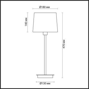 Схема Настольная лампа - 4114/1T  в стиле Модерн
