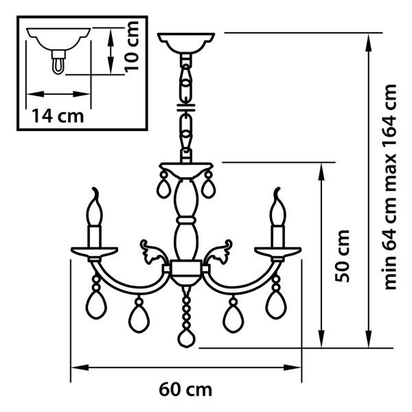 Люстра подвесная — 694064 — Osgona — Мощность *36W