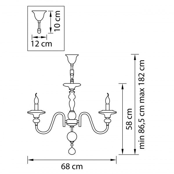 Люстра подвесная — 699064 — Osgona — Мощность *36W