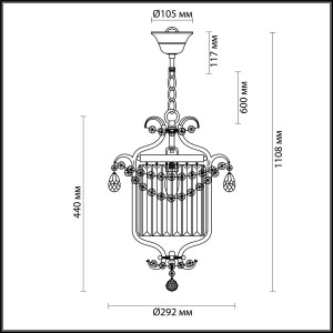 Подвес — 4686/1 — ODEON LIGHT 1*40W