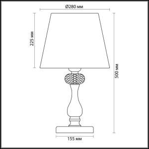 Схема Настольная лампа - 3393/1T  в стиле Классика