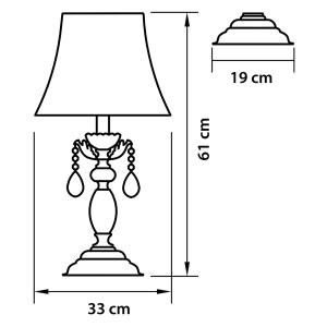 Чертеж 701911 (MT200007-1) Настольная лампа FIOCCO  1х40W E27 ЗОЛОТО (в комплекте)