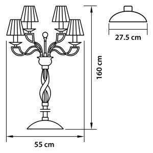 Торшер — 702764 — Osgona — Мощность 6*36W