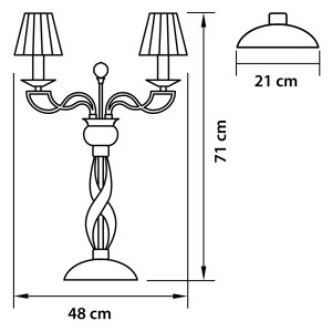 Чертеж 702932 (MT200001-3) Настольная лампа ALVEARE 3х40W E14 ЗОЛОТО (в комплекте)