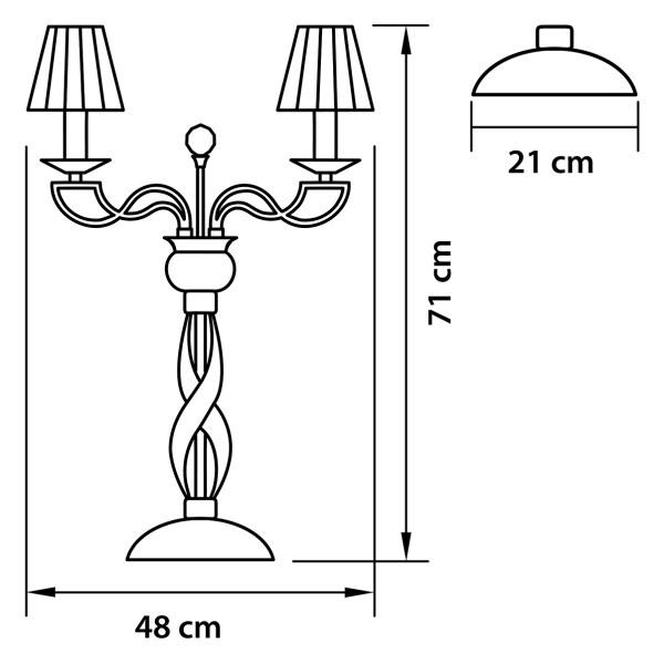 Настольная лампа — 702932 — Osgona — Мощность 3*18W
