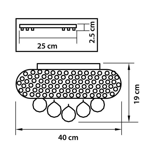 Люстра потолочная — 704064 — Osgona — Мощность *36W