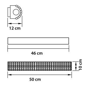 Чертеж 704642 (MJ800001-4) Бра зерк. MONILE 4х40W E14 24K ЗОЛОТО (в комплекте)