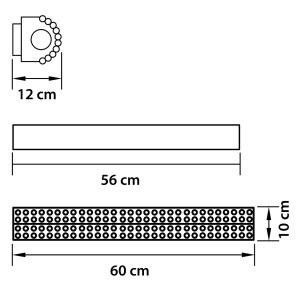 Чертеж 704652 (MJ800001-5) Бра зерк. MONILE 5х40W E14 24K ЗОЛОТО (в комплекте)