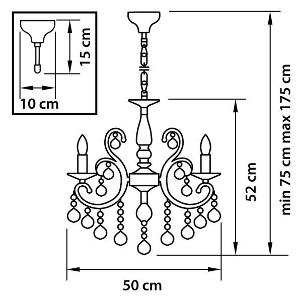 Люстра подвесная — 708052 — Osgona — Мощность *30W