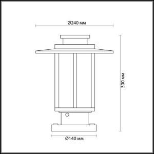 Схема Уличный светильник на столб - 4047/1B  в стиле Уличный