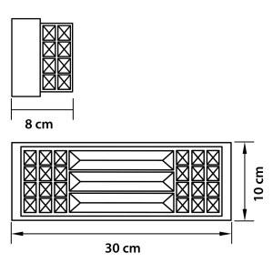 Чертеж 722640 (MB000003-4) Бра LIMPIO 6х20W G4 ХРОМ/ПРОЗРАЧНЫЙ (в комплекте)