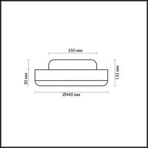 Схема Настенно-потолочный светильник - 2177/3C  в стиле Минимализм