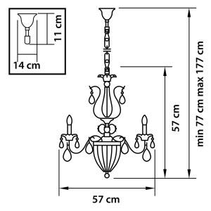Люстра подвесная — 790062 — Osgona — Мощность *36W