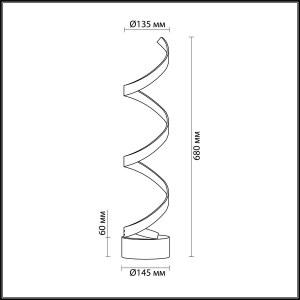 Схема Настольные лампы - 3832/12TL  в стиле Модерн