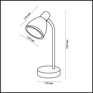 Схема Настольная лампа - 2409/1T  в стиле Для кабинета и офиса