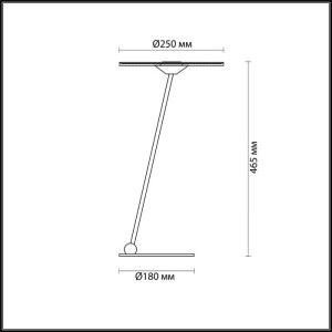 Схема Настольная лампа - 4107/12TL  в стиле Хай-тек