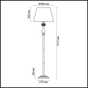 Схема Торшер - 3390/1F  в стиле Классика