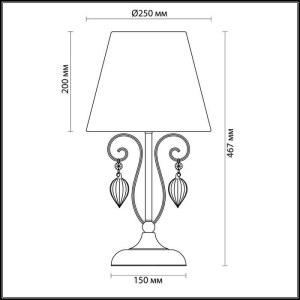 Схема Настольная лампа - 3921/1T  в стиле Элегант