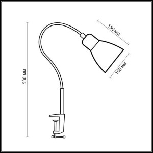 Схема Настольная лампа - 1997/1T  в стиле Для кабинета и офиса