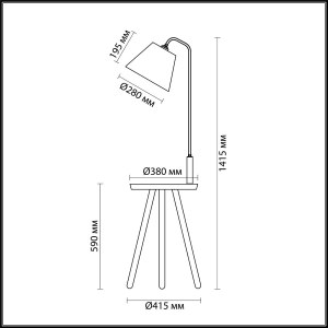 Схема Торшер со столиком - 4666/1F  в стиле Модерн