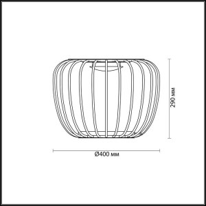 Схема Настольная лампа - 4106/7TL  в стиле Лофт