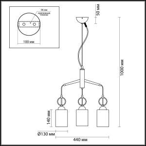 Схема Подвес - 4657/3  в стиле Кантри