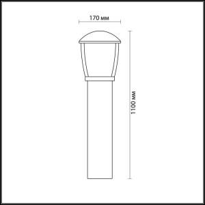 Уличный светильник 110 см — 4051/1F — ODEON LIGHT 100W
