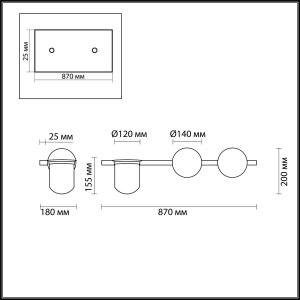 Схема Настенный светильник - 4681/2W  в стиле Модерн
