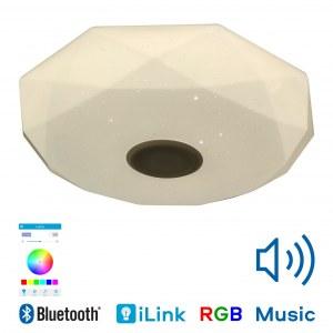 Музыкальная люстра светильник CY181-522 Aiden — RGB